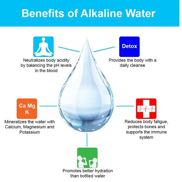 APEX Countertop Drinking Water Filter White Alkaline