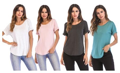 Pleated Short Sleeve Top T-Shirt 8e7d9212-e17c-4952-8a43-0ccf1ad8f0fc