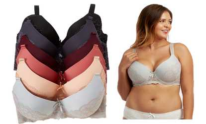 cf31aec62a555 Shop Groupon Women s Full Figure Lace Overlay Bras w Wide Band (6-Pack)  Sizes