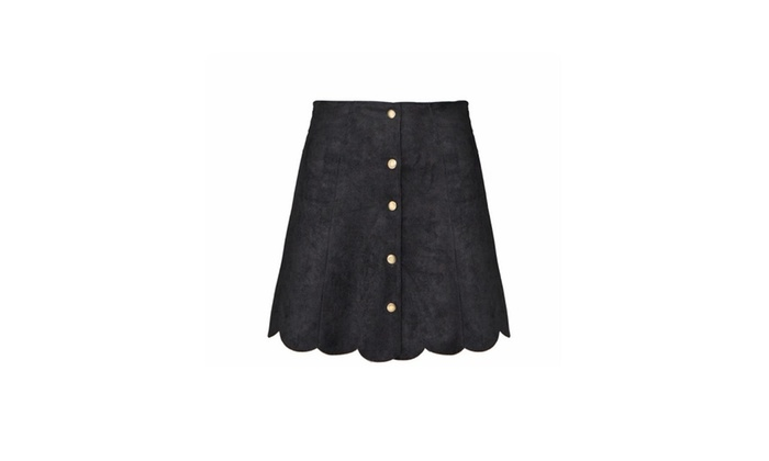 Women's A-Line Buttons Up Solid Slim Fit Solid Skirts