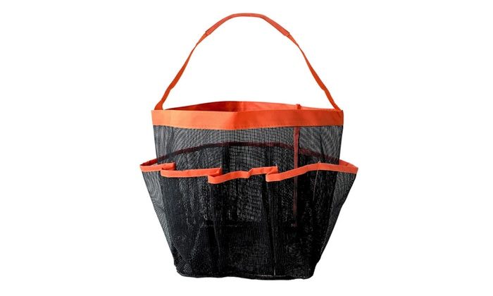 a09856b1ad30 Portable Shower Caddy Toiletry Tote Bag with Eight Pockets