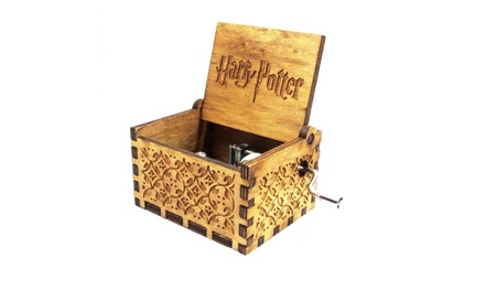 Harry Potter Engraved Wooden Music Box