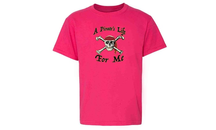 fd9bdf0df A Pirate's Life For Me Halloween Costume Skull Toddler Kids T-Shirt
