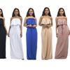 Plus Size Off Shoulder Sleeveless Maxi Dress