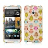 Insten Hard Fancy Owl Rubber Case For HTC One Mini Colorful
