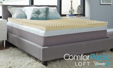 ComforPedic Loft from Beautyrest Loft 3'' Memory Foam Reversible Mattress Topper