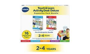 VTech Touch and Learn Activity Desk 2-in-1 Preschool Bundle