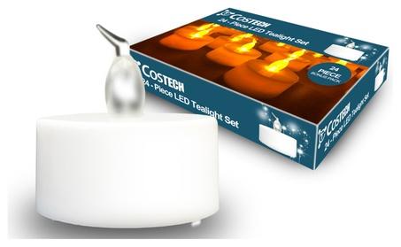 Flameless LED Tea Light Candles, Costech Battery Powered Fake Candles f5f394f9-a45d-4103-9e20-4a132569693a