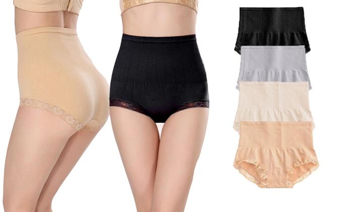 0fce97fe2 Women High Waist Panty Briefs Tummy Slim Sexy Shapewear Body Control 1-4  pack