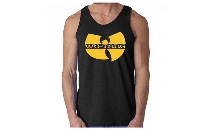 Mens Soft Jersey Black Wu Tang Tank Top