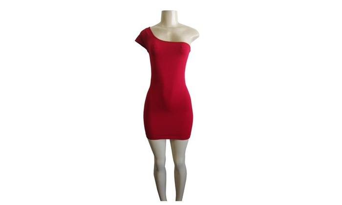 Fabric and Fabric, Inc.: One Size One Shoulder Dress by Fabric and Fabric FAB-13127