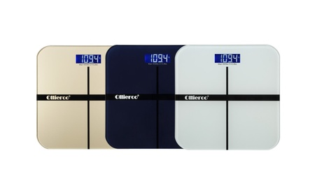 Ollieroo 400lb Digital Glass Bathroom Scale with LCD Display 56af5a1e-18b8-4257-b1f1-85bab7db4b63