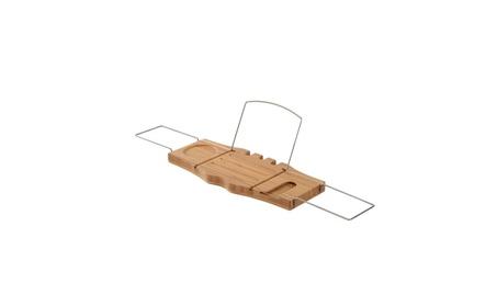 Adjustable Bamboo Bathtub Rack Shelf Caddy Tray Wine Holder Book Stand 1b8d2114-0da3-4230-8c78-92c64ccccee1