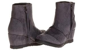 Sara Z Ladies Microsuede Wedge Boot (See More Sizes)