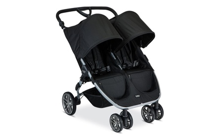 Double Stroller Baby Twin Maneuverable Lightweight frame Black 63b73f73-6922-4cd5-b5cd-5f59198da9ad