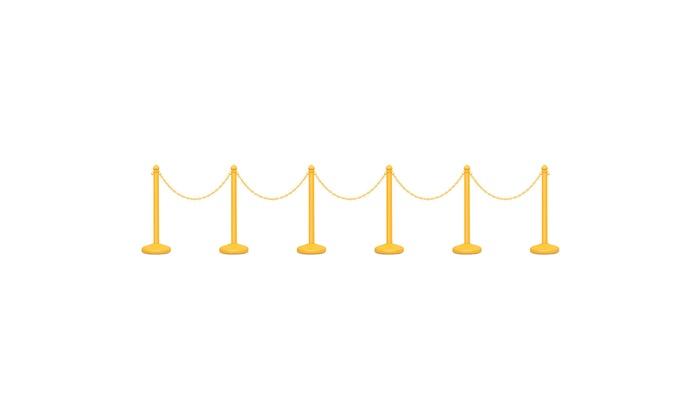 6Pcs Set Plastic Stanchion 39.5/'/' Chain C-Hooks Fillable Base Crowd Control