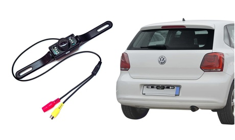 Rear View Reversing Backing Camera and License Plate for Car, Trucks and Vans