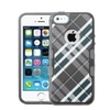 Insten Diagonal Plaid Hard Tpu Case For Iphone Se/5 5s Gray White