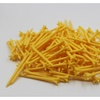 "A99 Golf 2 3/4"" 5-Prong No Friction Yellow Tee 100pcs"