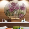 Bouquet of Pink Peonies' Ultra Glossy Floral Metal Circle Wall Art