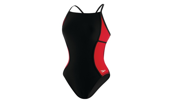 Speedo Grab Bag Womens Sprint Splice Free Back One Piece Swimsuit