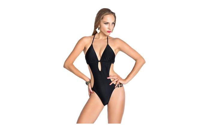 Women's One Piece Bikini Bathing Monokini Swimwear Swimsuit