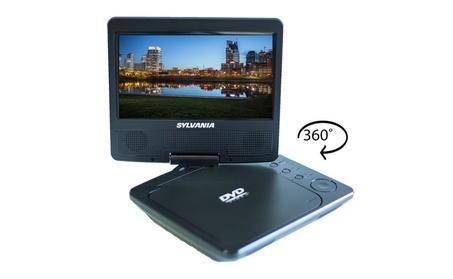 "Sylvania 7"" Swivel Screen Portable DVD Player in Black - Refurbished 959aac6f-068e-444d-9957-060017e1b28c"
