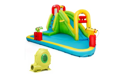 Inflatable Splash Water Bounce House Jump Slide Bouncer Kid w/ 735W Blower