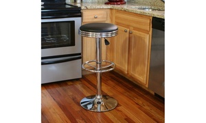 Black Retro Soda-Style Bar Stool