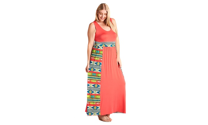 Up To 34% Off on Colorful Coral Tribal Aztec P... | Groupon Goods