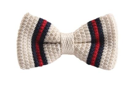Designer Sporty Fun Knit Clip On Bow Tie - 3 Colors dd127268-1c67-4c65-b1b9-40e03da13305