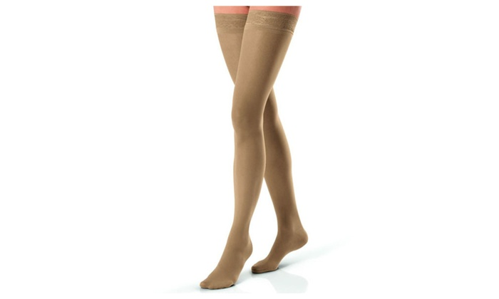 9252218aede Jobst Ultrasheer 15-20 mmHg Thigh High Compression Stockings Lace ...
