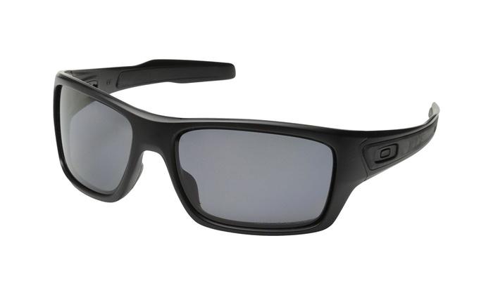 3ad9ee1296 Oakley Turbine OO9263-07 Sunglasses Matte Black Grey Polarized Lens 9263 07