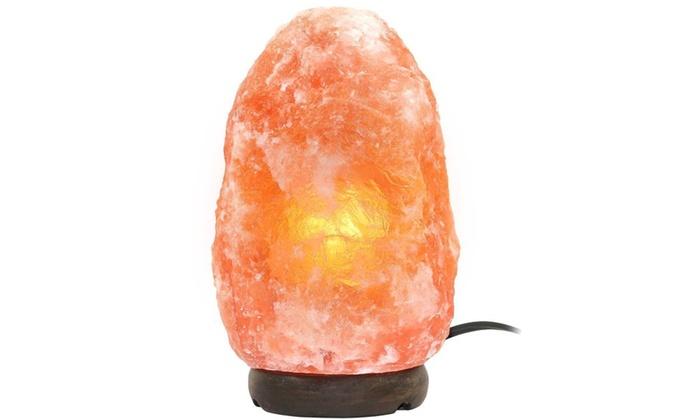 Himalayan Salt Lamp Home Goods : Greenco Natural Himalayan Rock Salt Lamp with Wood Base Groupon
