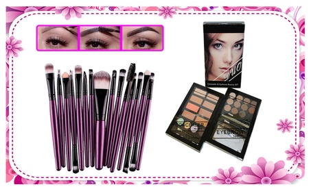 Concealer & Eyebrow Duo Makeup Kit With 15pcs Makeup Brushes Set 40bc2760-5774-4ef8-a60f-8c581772a135