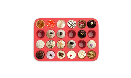 Mini Muffin Pan- Silicone Nonstick Cupcake/Muffin Reusable Baking Tray (24 Cups) e4746058-00f9-4082-9fdc-46441109850d