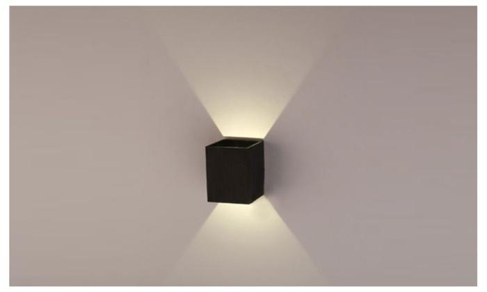 AGPTEK Modern 3W LED Square Wall Lamp Light Fixture