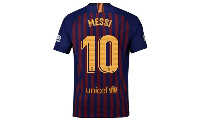 cheaper 4bd0a 09100 LIEEVE #10 Messi Barcelona Home 2018-2019 Mens Soccer Jersey Red/Blue