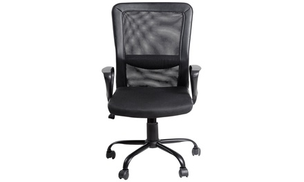 LAGGRA Heavy Duty Breathable Black Mesh Office Home Game Chair