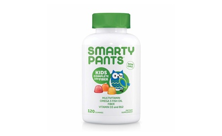 SmartyPants Kids Complete and Fiber Gummy Vitamins 120 Gummies