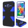 Insten Hard Hybrid Case For Samsung Galaxy Grand Prime Black/blue