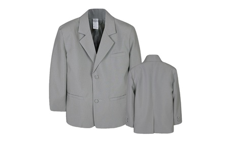 Boy Infant Kid Teen Formal Wedding Party Blazer Gray suit Jacket S-20