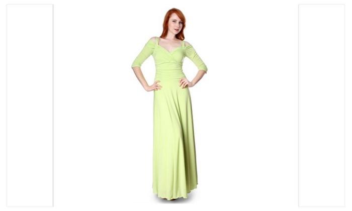 Evanese Womens Elegant Formal Long Evening Dress Groupon