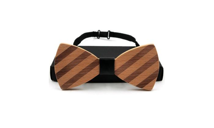 Casual Handmade Striped Collar Wooden Collar