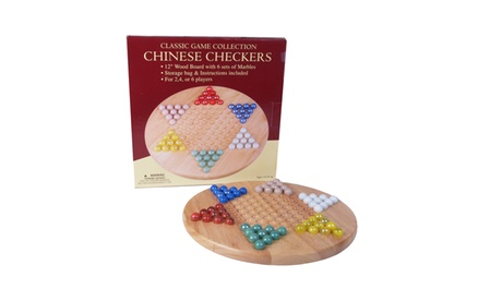 """12"""" Wood Chinese Checkers Set with Marbles 4b4ec08c-9e8b-42cc-a467-bb52f86df9a9"""