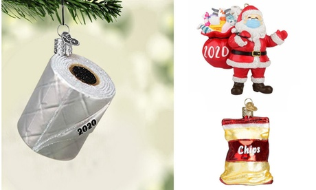 Christmas 2020 Toilet Paper Resin Ornaments for Christmas Tree
