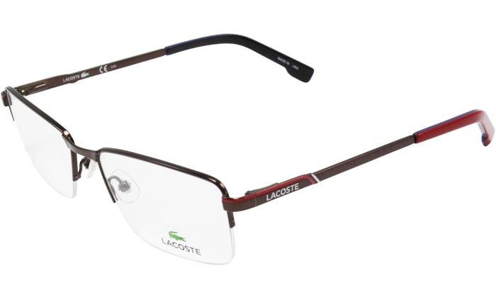 939c1bde3a8f Lacoste Eyeglasses for Men L2203 210 Brown-Red Frame   Clear Lenses (No Case)  L2203 210 Brown Frame   Clear Lenses