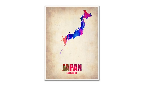 Naxart 'Japan Watercolor Map' Canvas Art 805174f0-6401-494b-8583-4a14c0e0e898