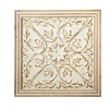 Distressed Ivory Medallion in Wood Frame