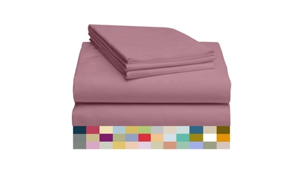 4 Piece Bamboo Sheet Set w/ 14 Inch Deep Pocket by LuxClub - Color Group 2
